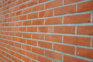 Brick wall that had tuckpointing.